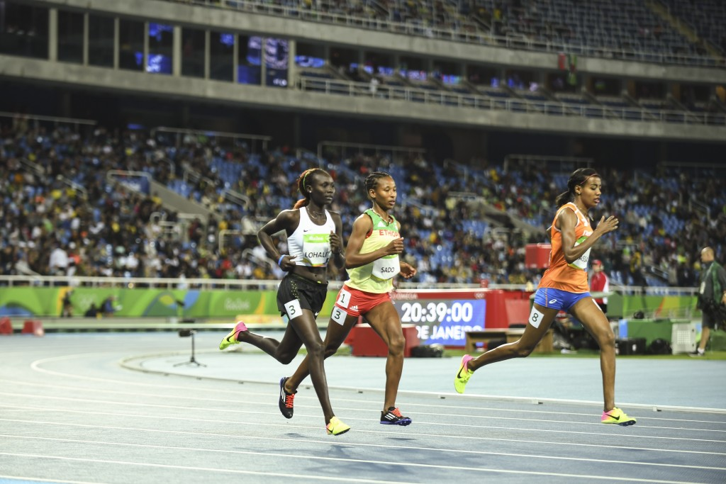 Anjelina competing on the 1500m race in Rio