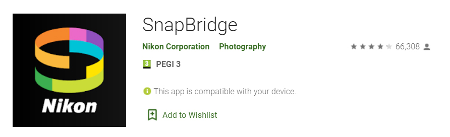 Review ratings Android Snapbridge 2.6