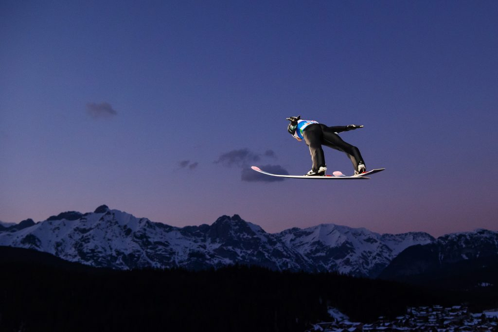 Snowboarding, sports photography