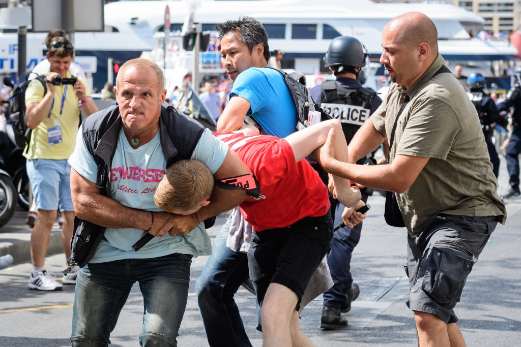 violence, Marseille, Russian fans, England fans , police