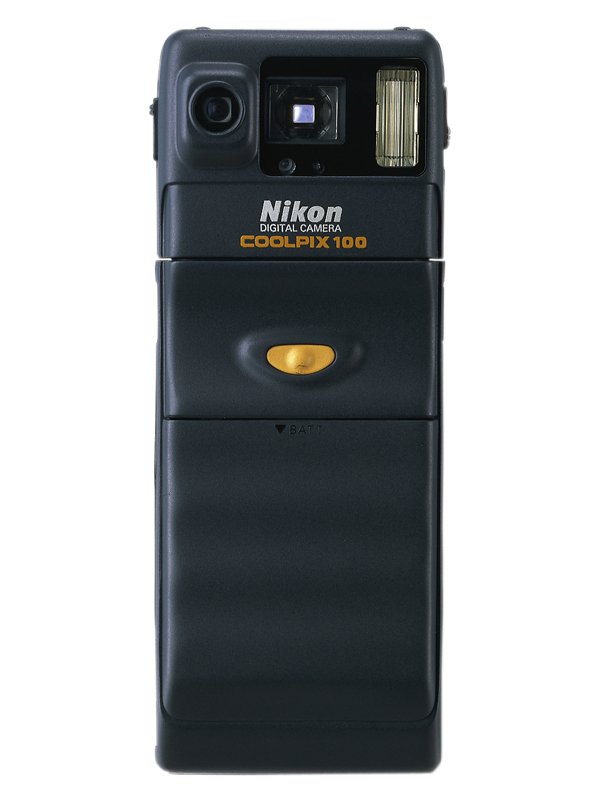 COOLPIX 100, camera history, Nikon history, the first coolpix, first digital compact camera