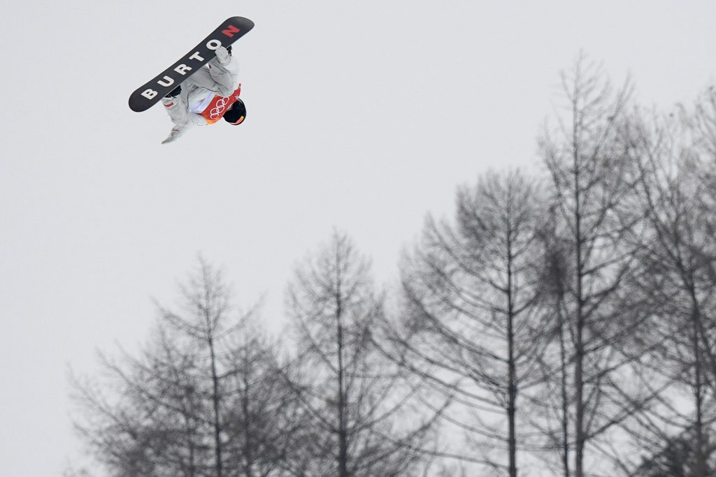 Shaun White of the USA competes in the Men's Snowboard Halfpipe Final, at Phoenix Snow Park during the PyeongChang 2018 Winter Olympic Games. Nikon D5 | AF-S NIKKOR 400mm f/2.8E FL VR with AF-S TELECONVERTER TC-14 ||| | ISO 2000 | 1/1600 s | f/5.0 Photo by Dan Himbrechts/AAP Image