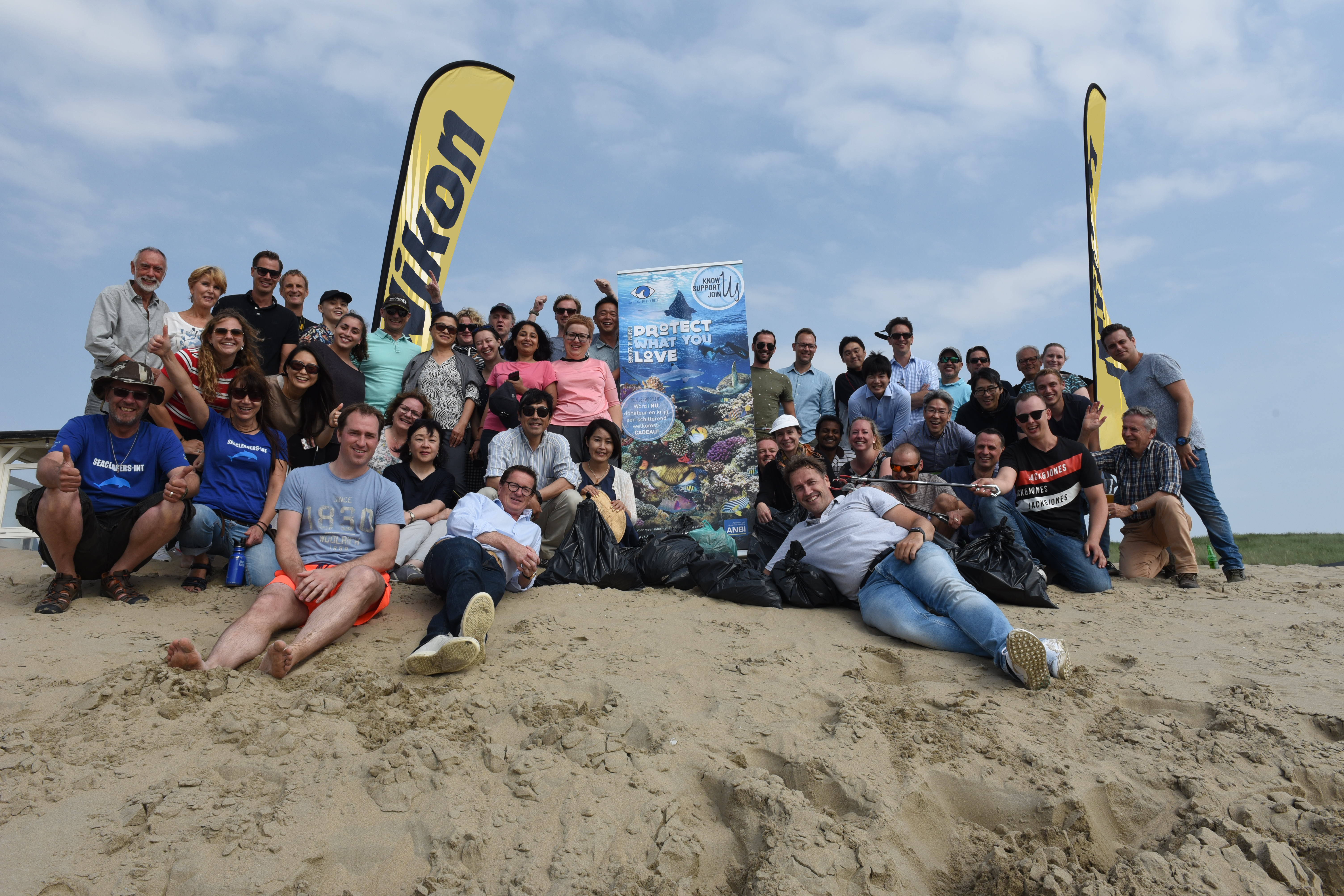 'Beat Plastic Pollution: Nikon employees join the Sea First Foundation for a 'Beach Cleanup'