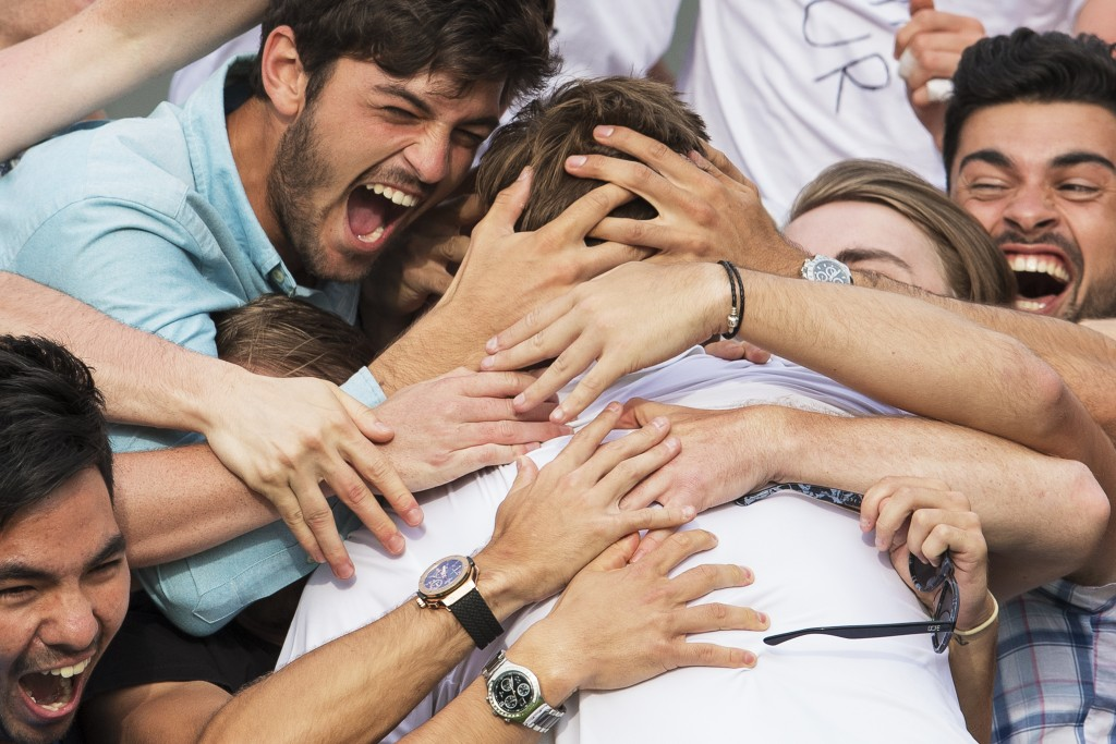 Marcus Willis, Gentlemen's Singles , celebration, Wimbeldon, fans, hugging, Joel Marklund, The All England Lawn Tennis Club,