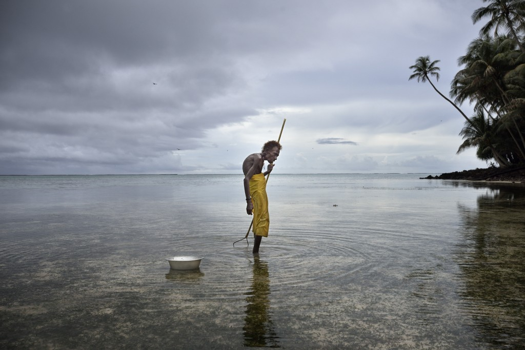 Yesila island, Climate change, old woman 'harvests' the seed of water