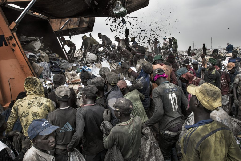 The Ojata landfill, captured by Nikon European Ambassador, Kadir van Lohuizen