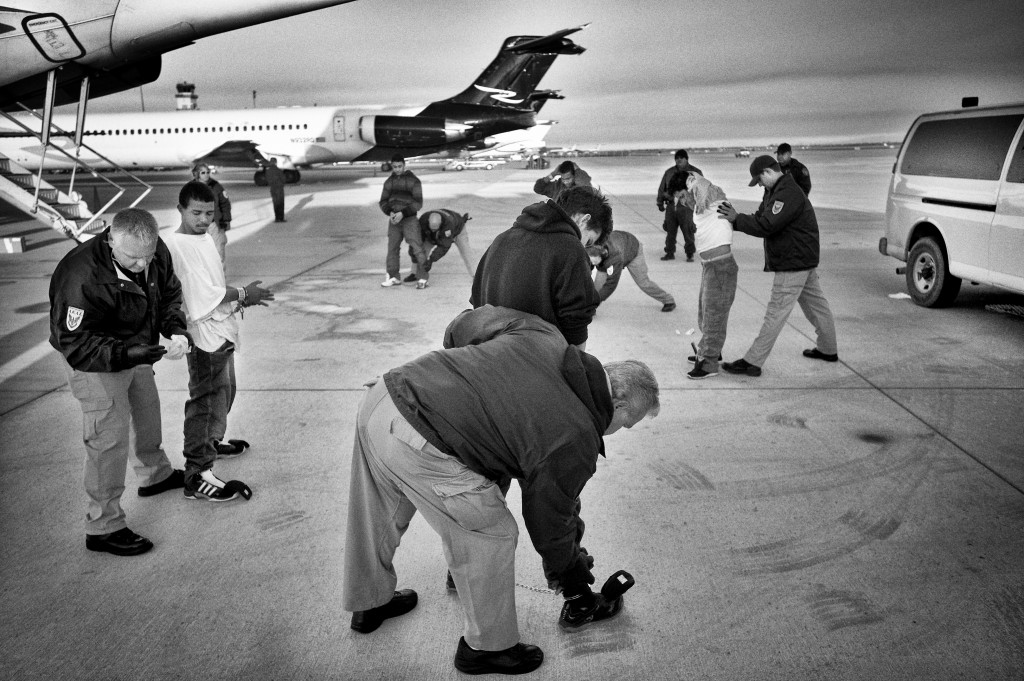 Migrants Honduras being deported back home Phoenix airport Central America.