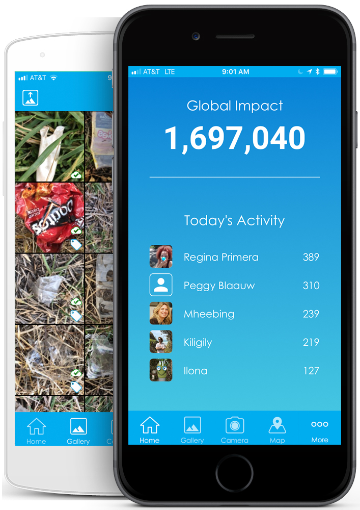 global community of environment that identifies, mapps, and collects the world's litter trash, keep the world clean